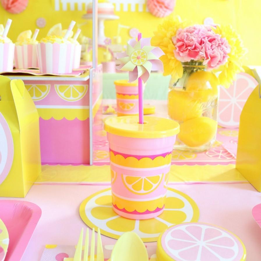 Astonishing Pink Lemonade First Birthday Party Fun365 Funny Birthday Cards Online Drosicarndamsfinfo