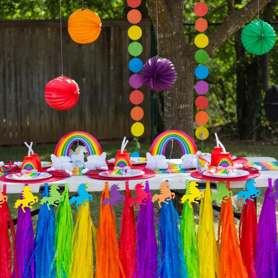 Rainbow Unicorn Pool Party  Fun26