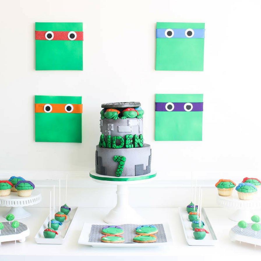 Brilliant Teenage Mutant Ninja Turtles Birthday Party Fun365 Personalised Birthday Cards Petedlily Jamesorg