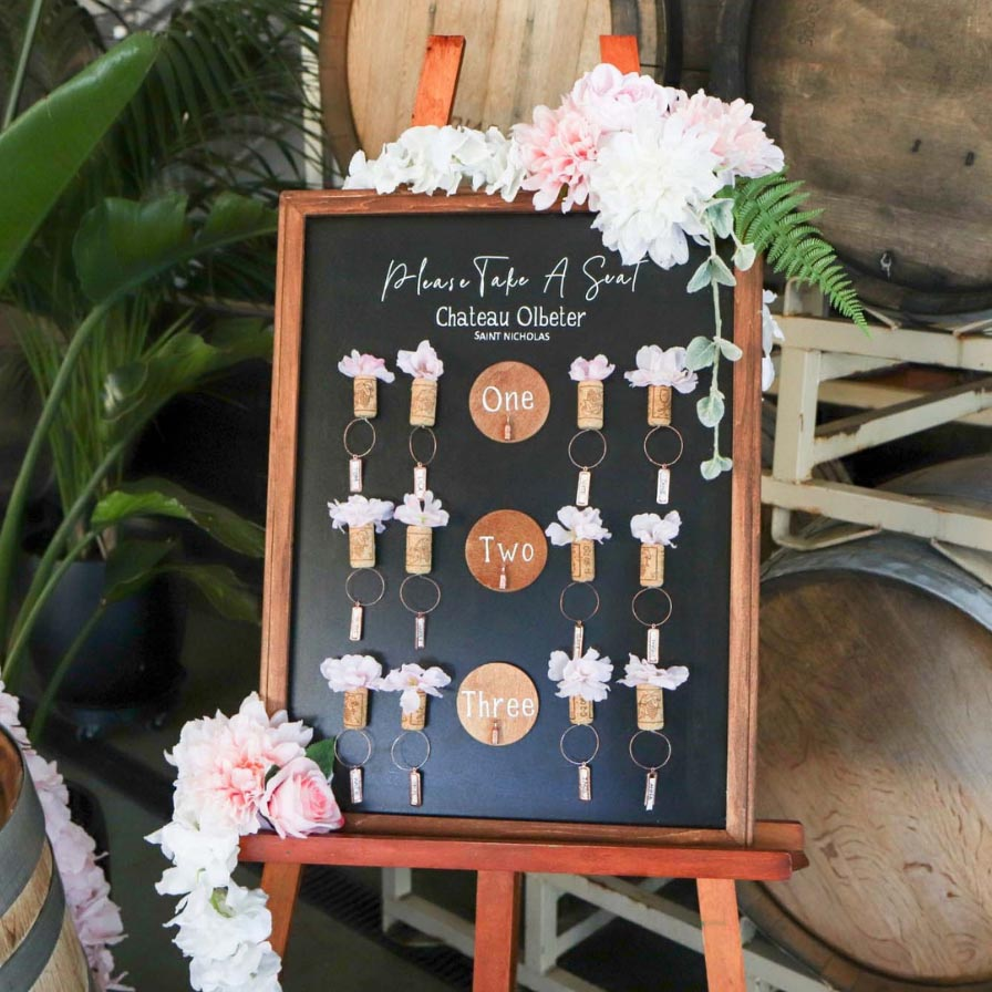 Wedding Seating Chart Sign Oriental Trading