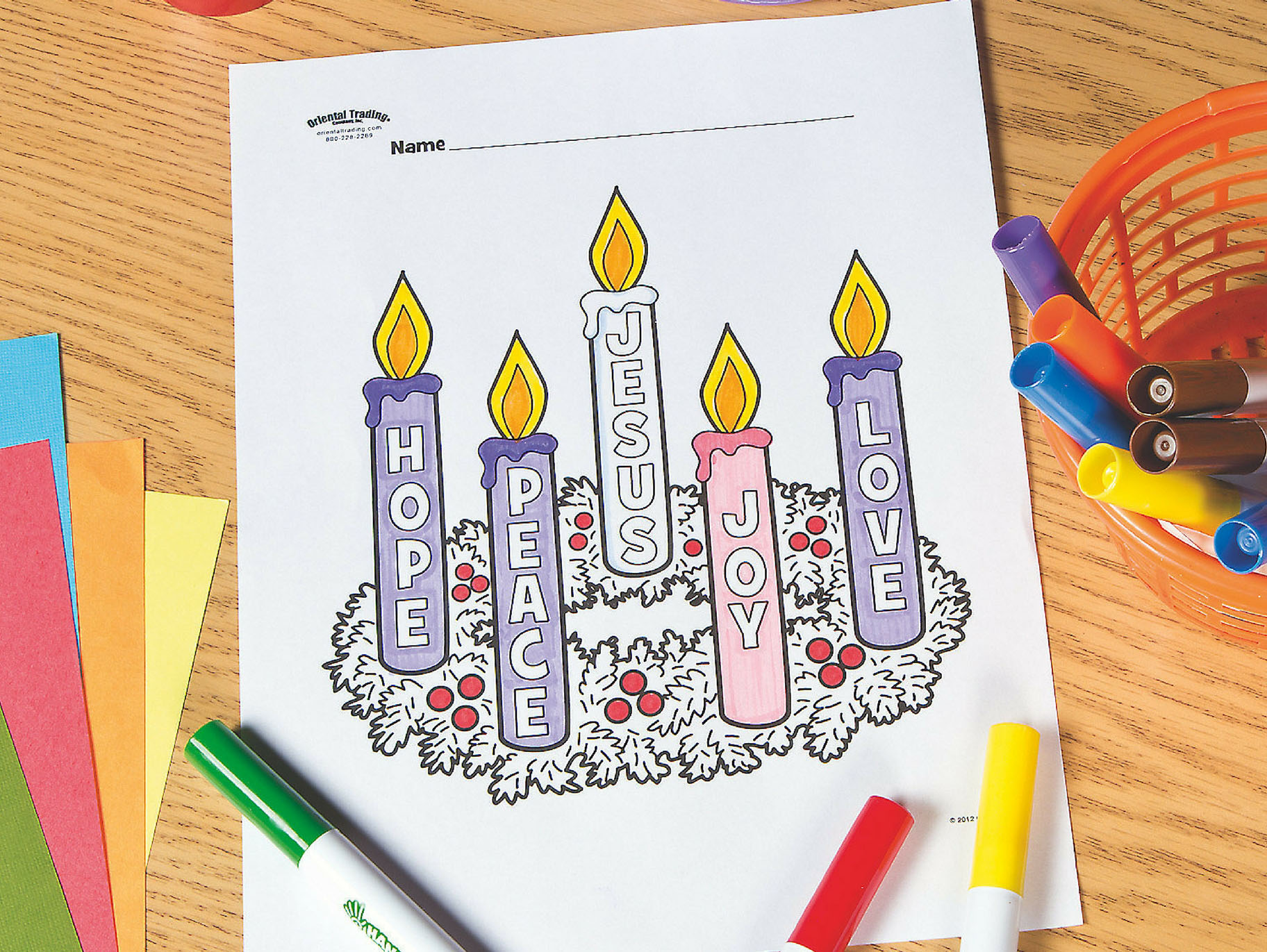 Advent Wreath Free Printable Coloring Page Fun365