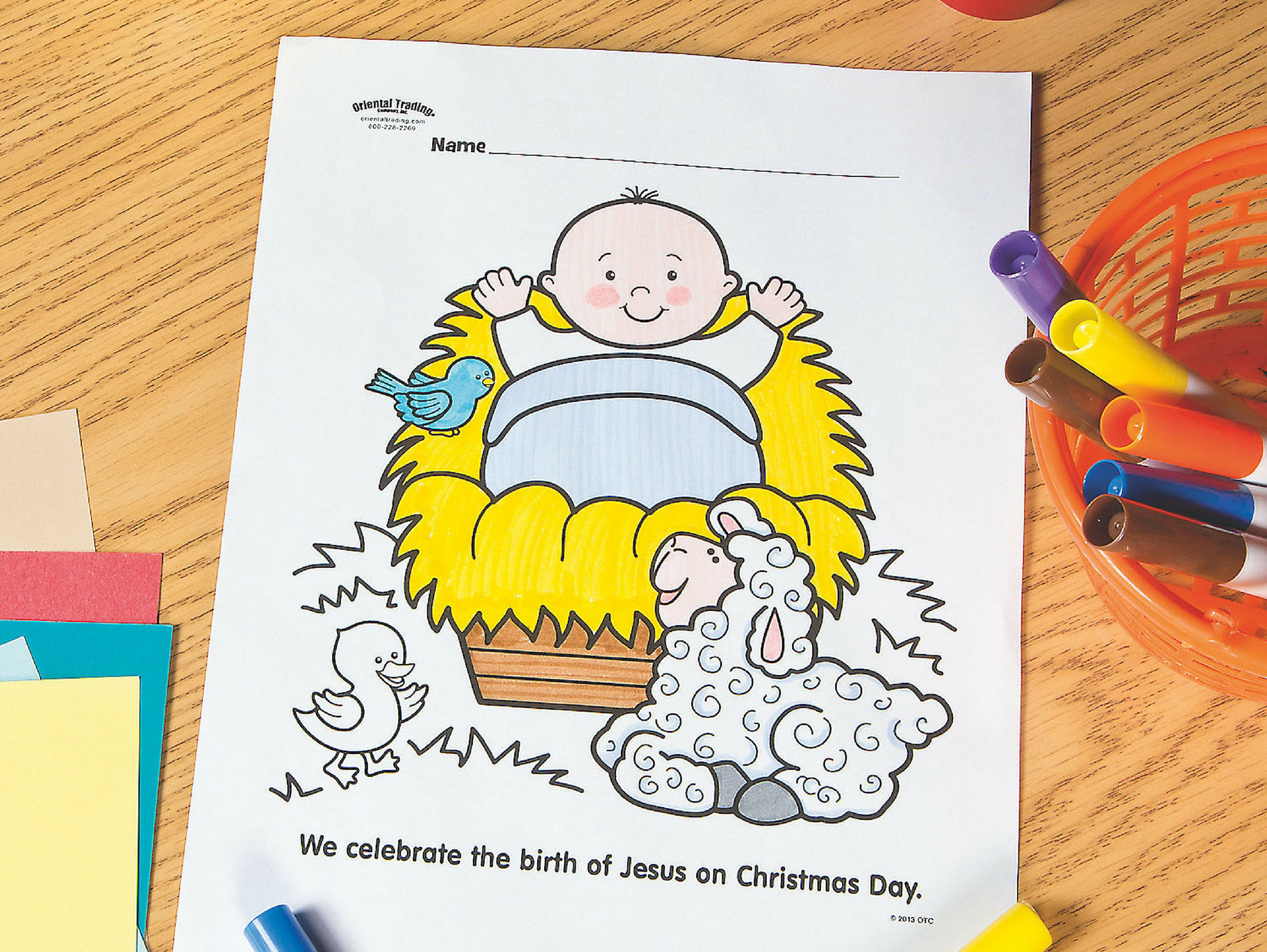 Baby Jesus Free Printable Coloring Page Fun365