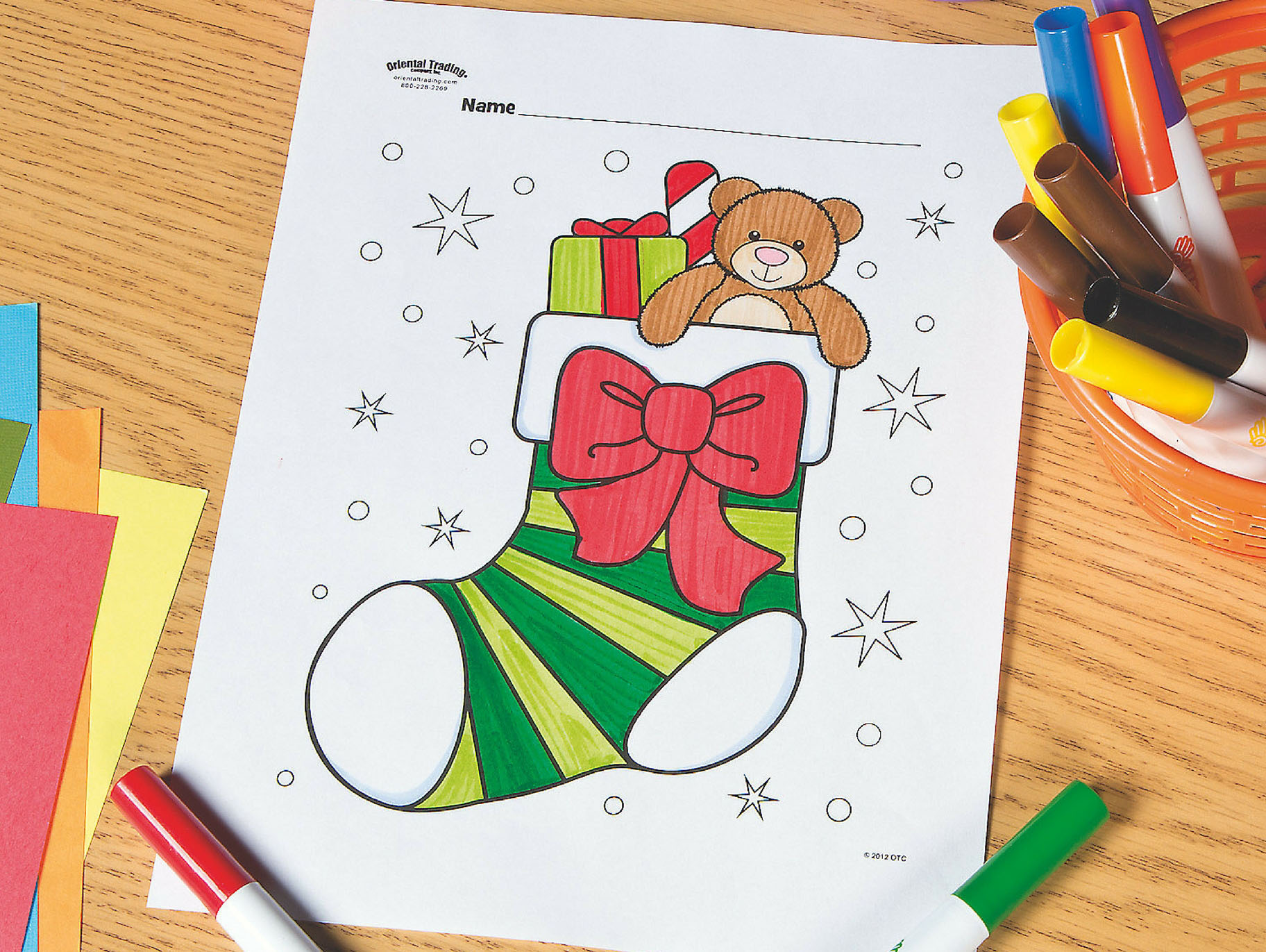 This is an image of Printable Stocking in small