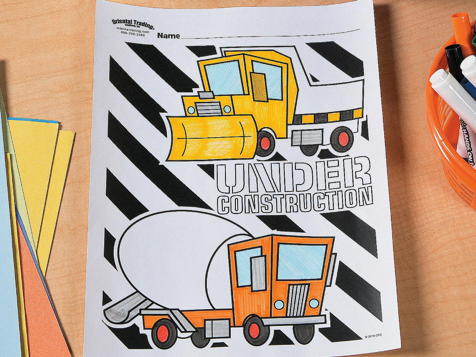 - Construction Party Free Printable Coloring Page Idea Fun365