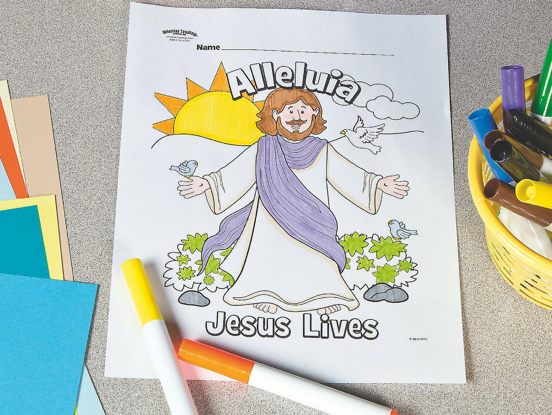Jesus Lives Free Printable Coloring Page Fun365