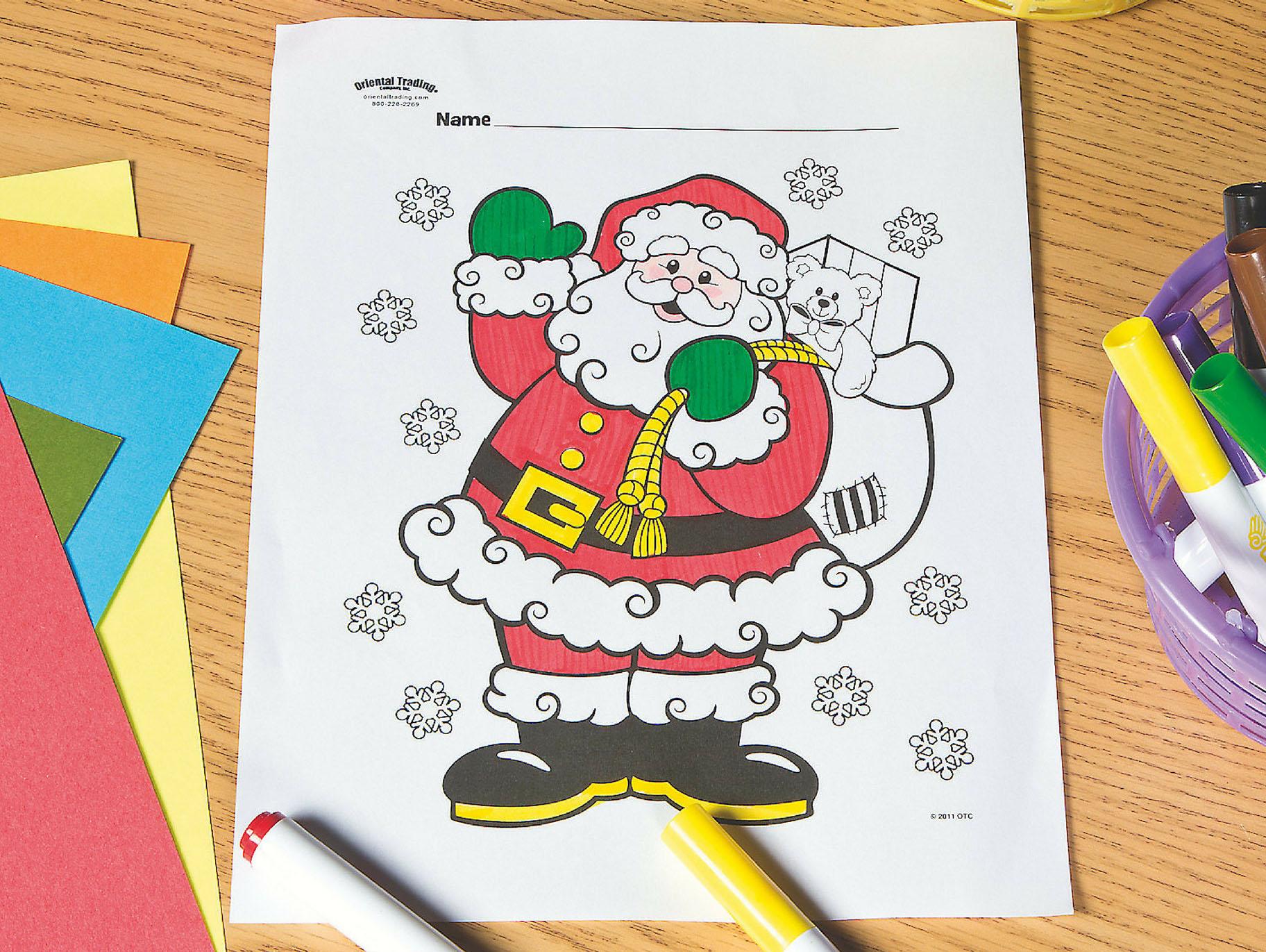 Santa Free Printable Coloring Page Fun365