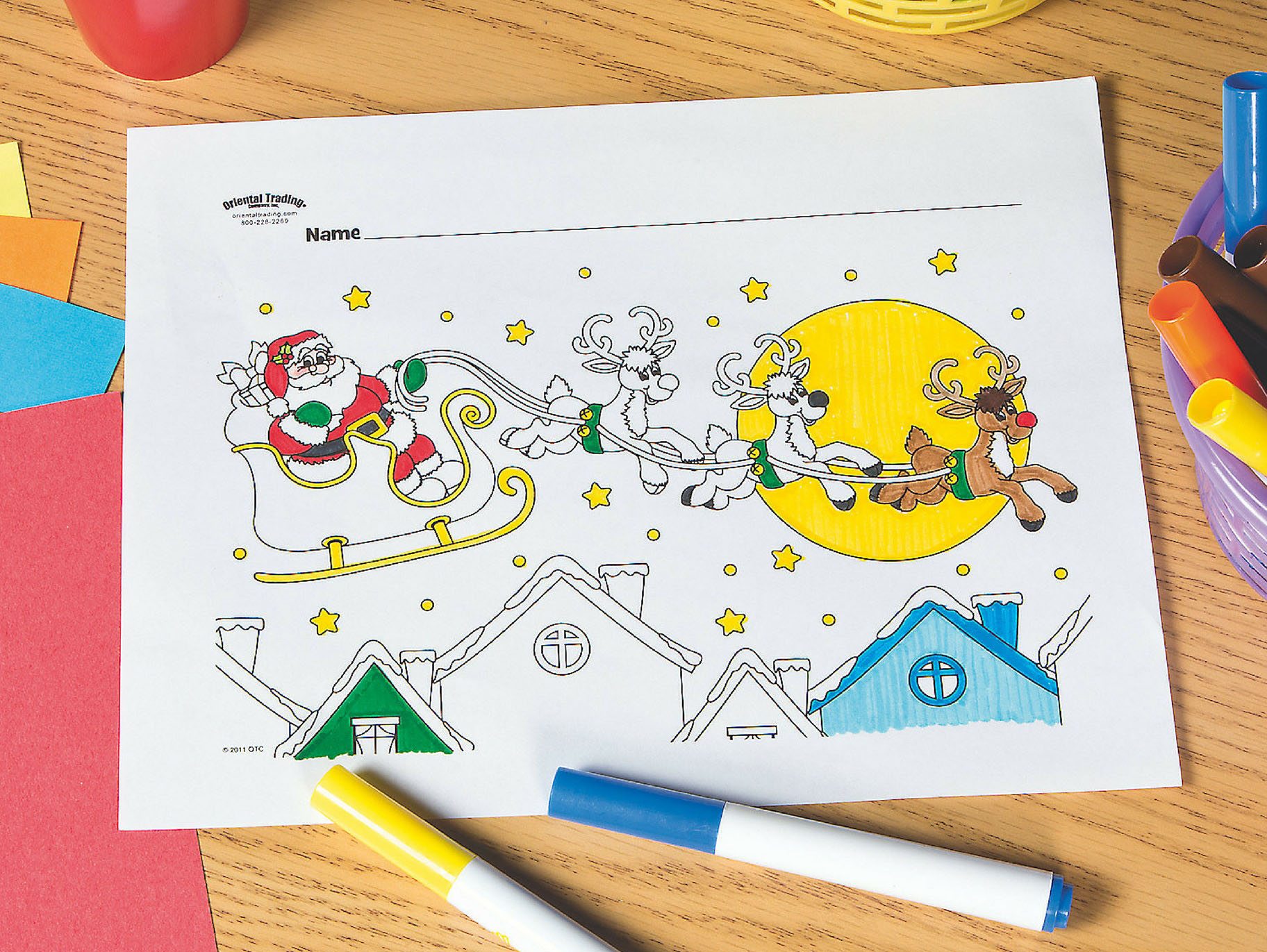 Rudolph's family coloring pages - Hellokids.com | 1371x1824