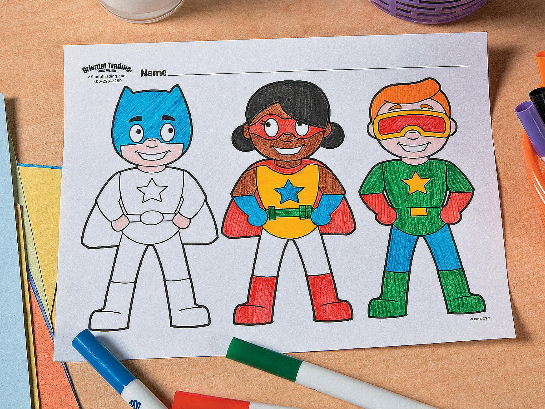 Superhero Free Printable Coloring Page Idea | Fun365