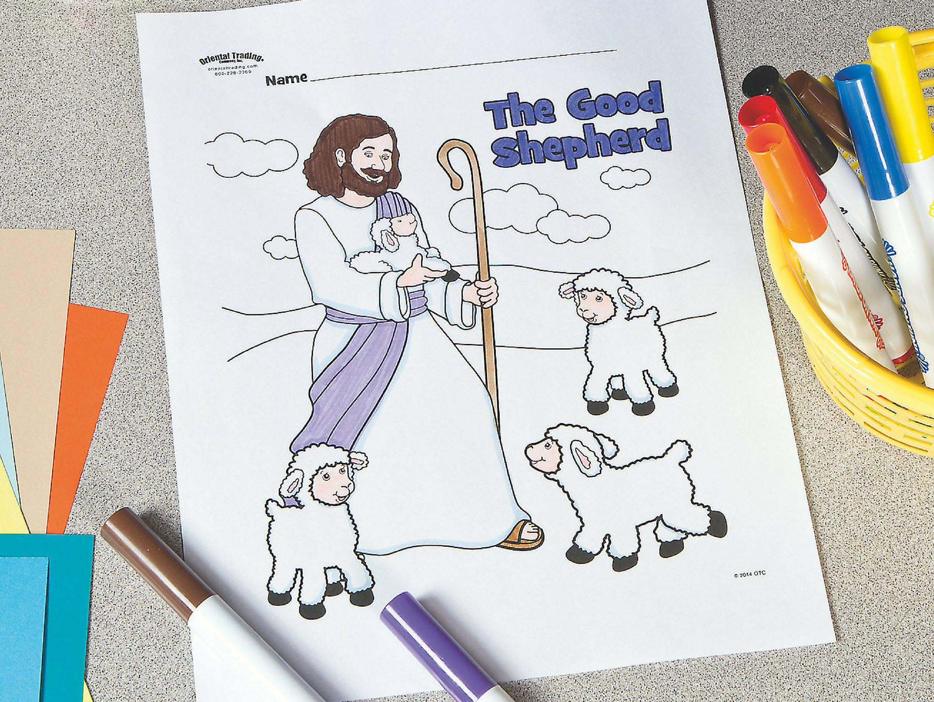 Good Shepherd Coloring Pages Free - Coloring Home | 1371x1824