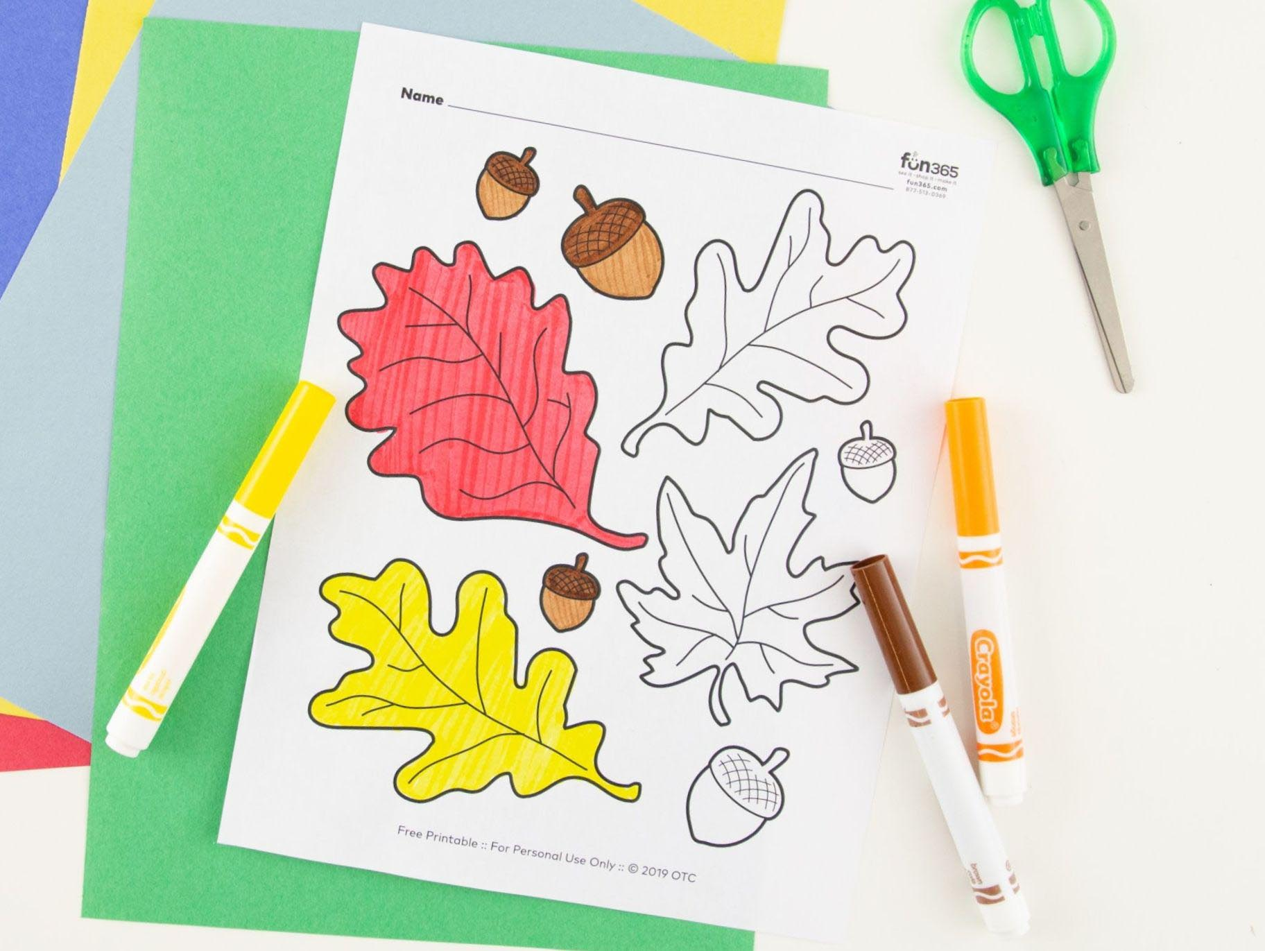 - Fall Leaves Coloring Page Free Printable Fun365
