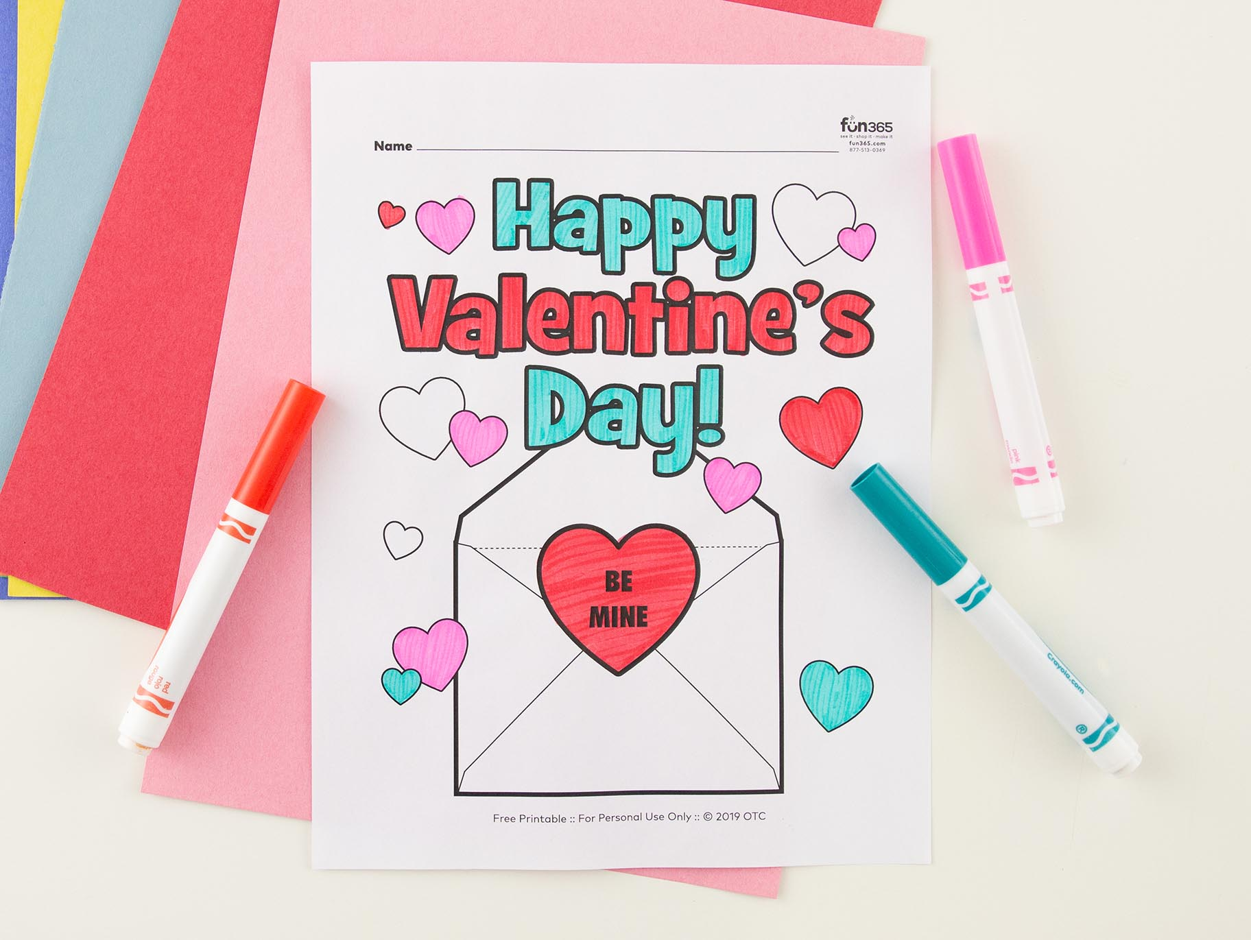 4 free Valentine's Day coloring pages for kids | 1371x1824