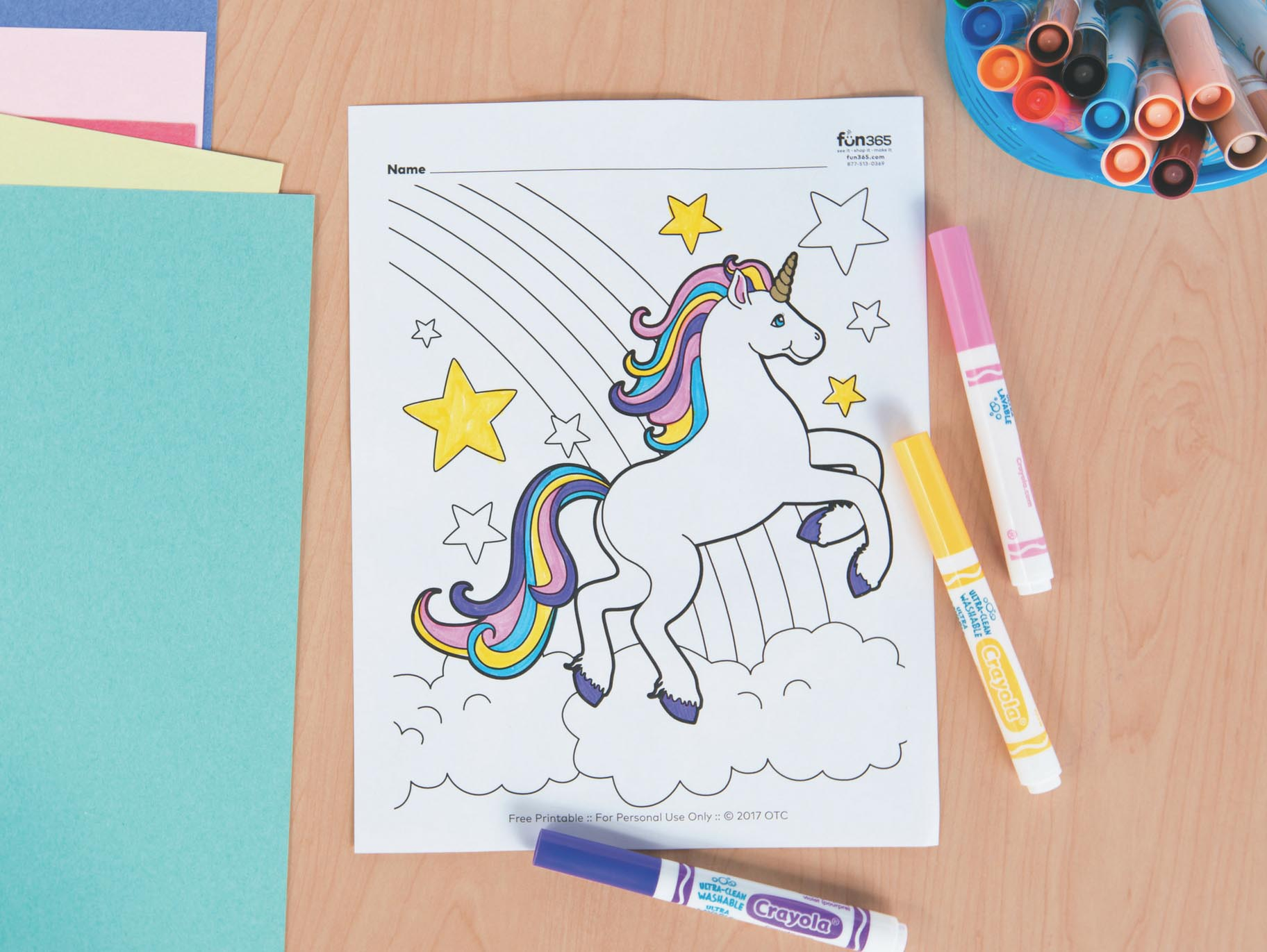 - Unicorn Free Printable Coloring Page Fun365