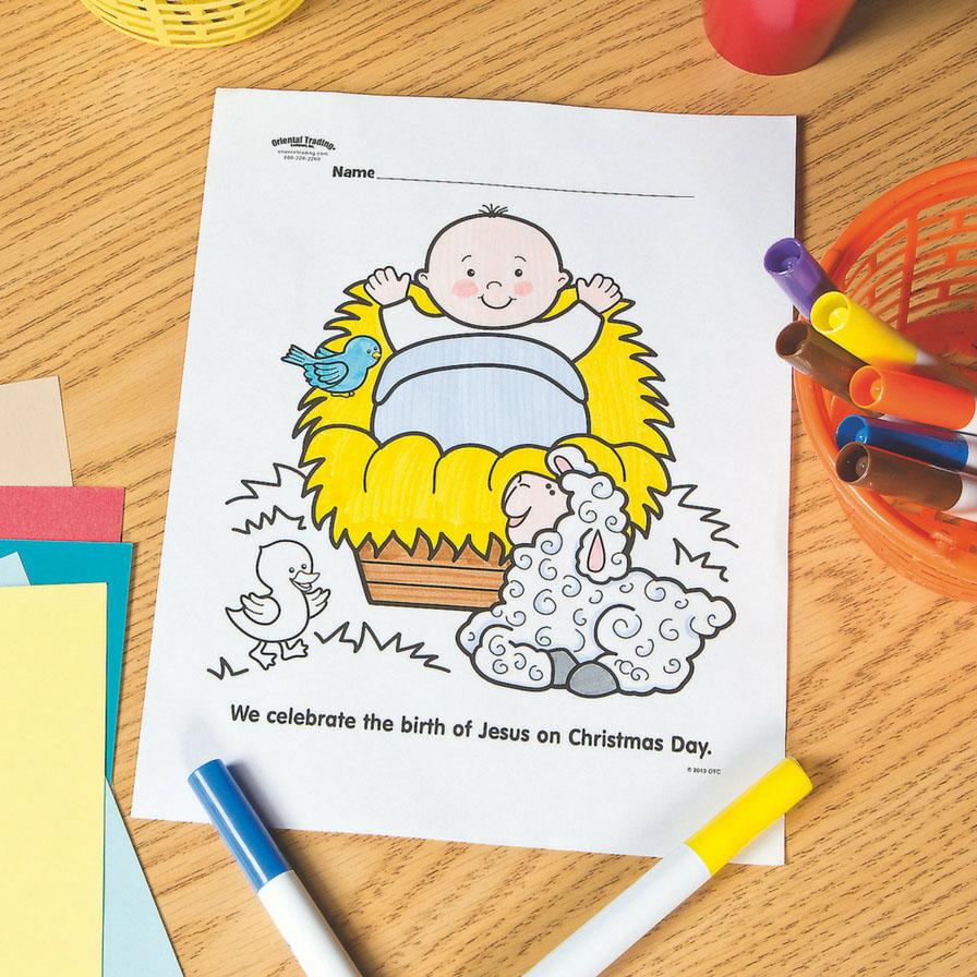 Baby Jesus Free Printable Coloring Page Fun365