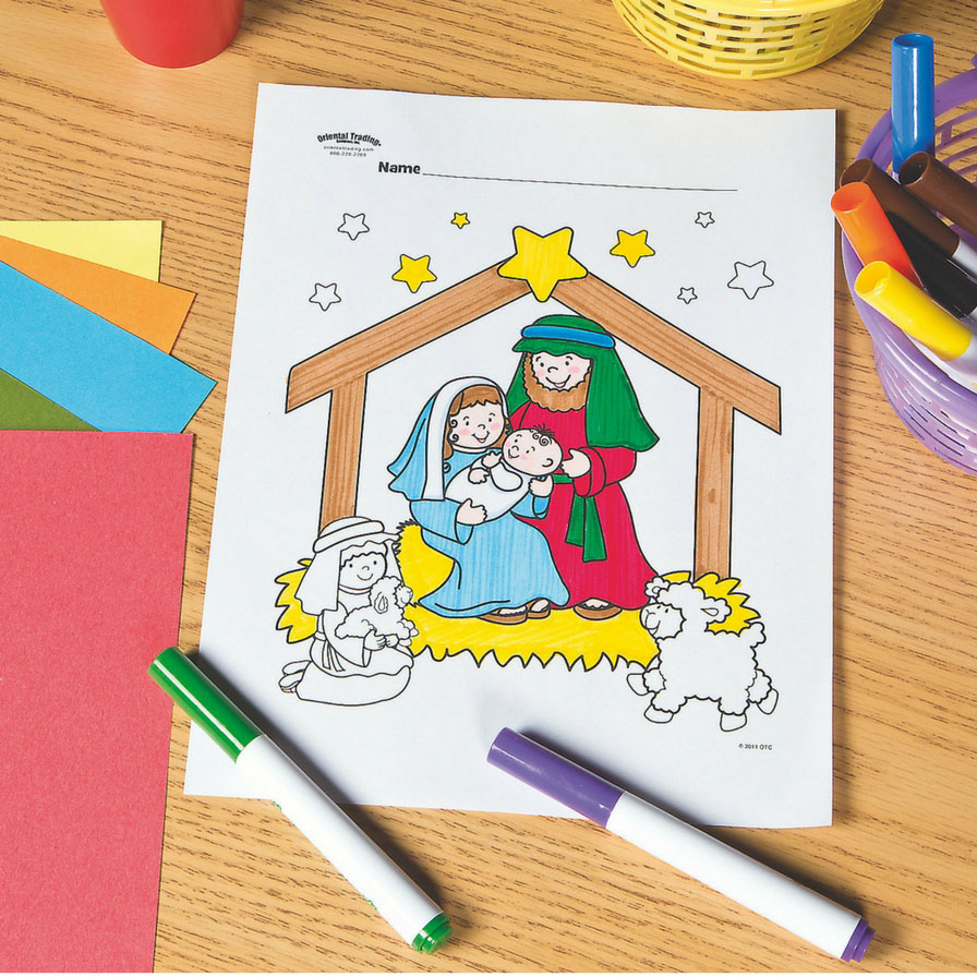 Nativity Free Printable Coloring Page Fun365