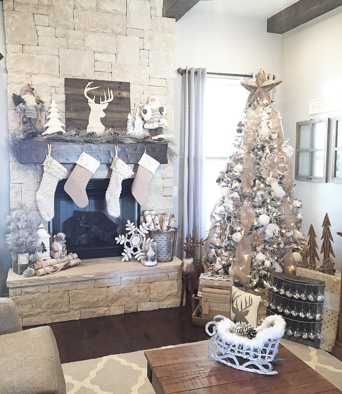 Rustic Christmas Mantel Decor Ideas Fun365