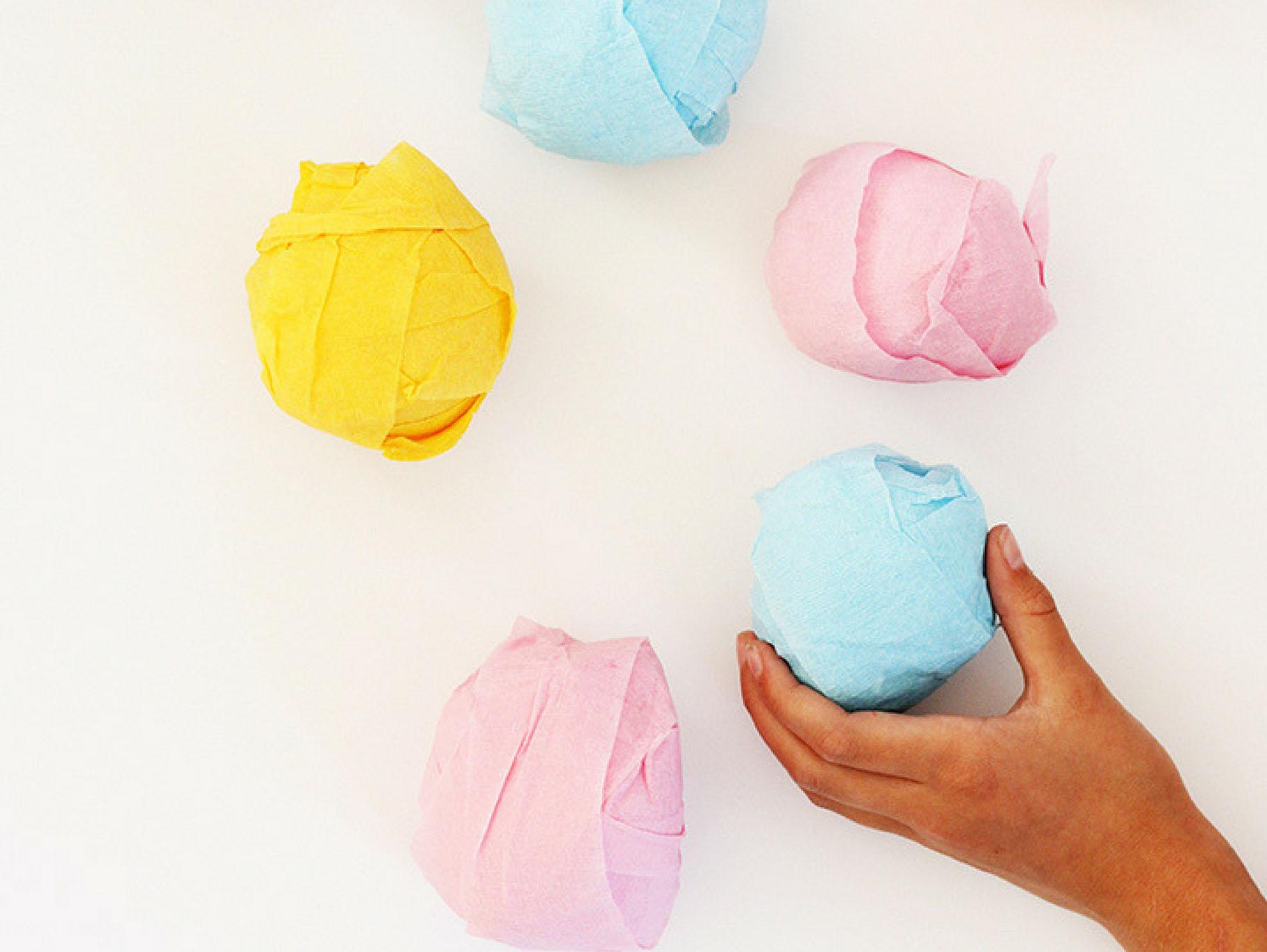 treasure ball Teddy Bear Surprise Balls || Bear birthday party favors hidden treasures prize ball crepe paper ball