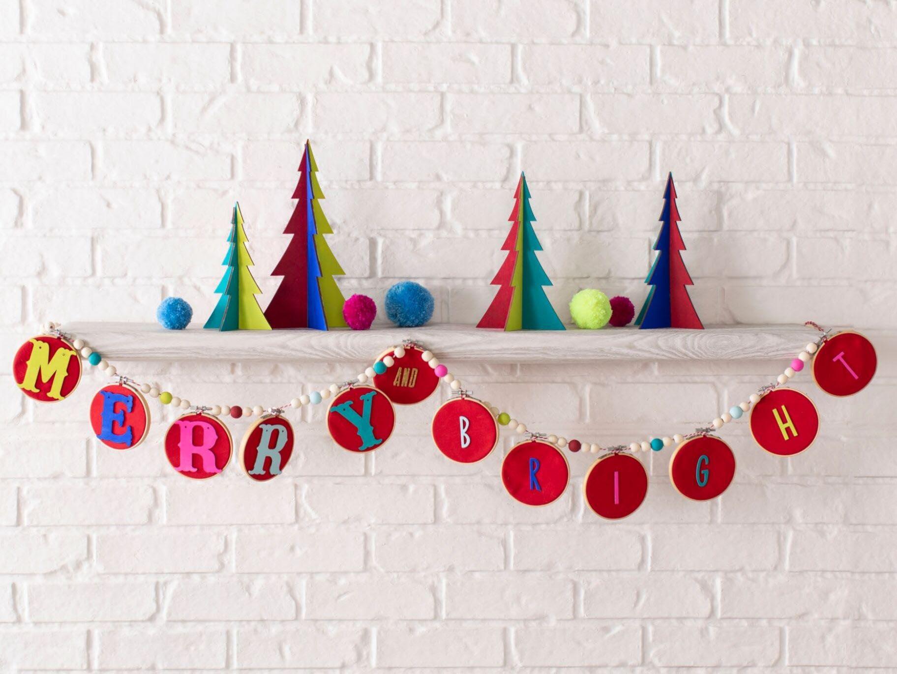 Boho Diy Wooden Bead Christmas Garland Fun365
