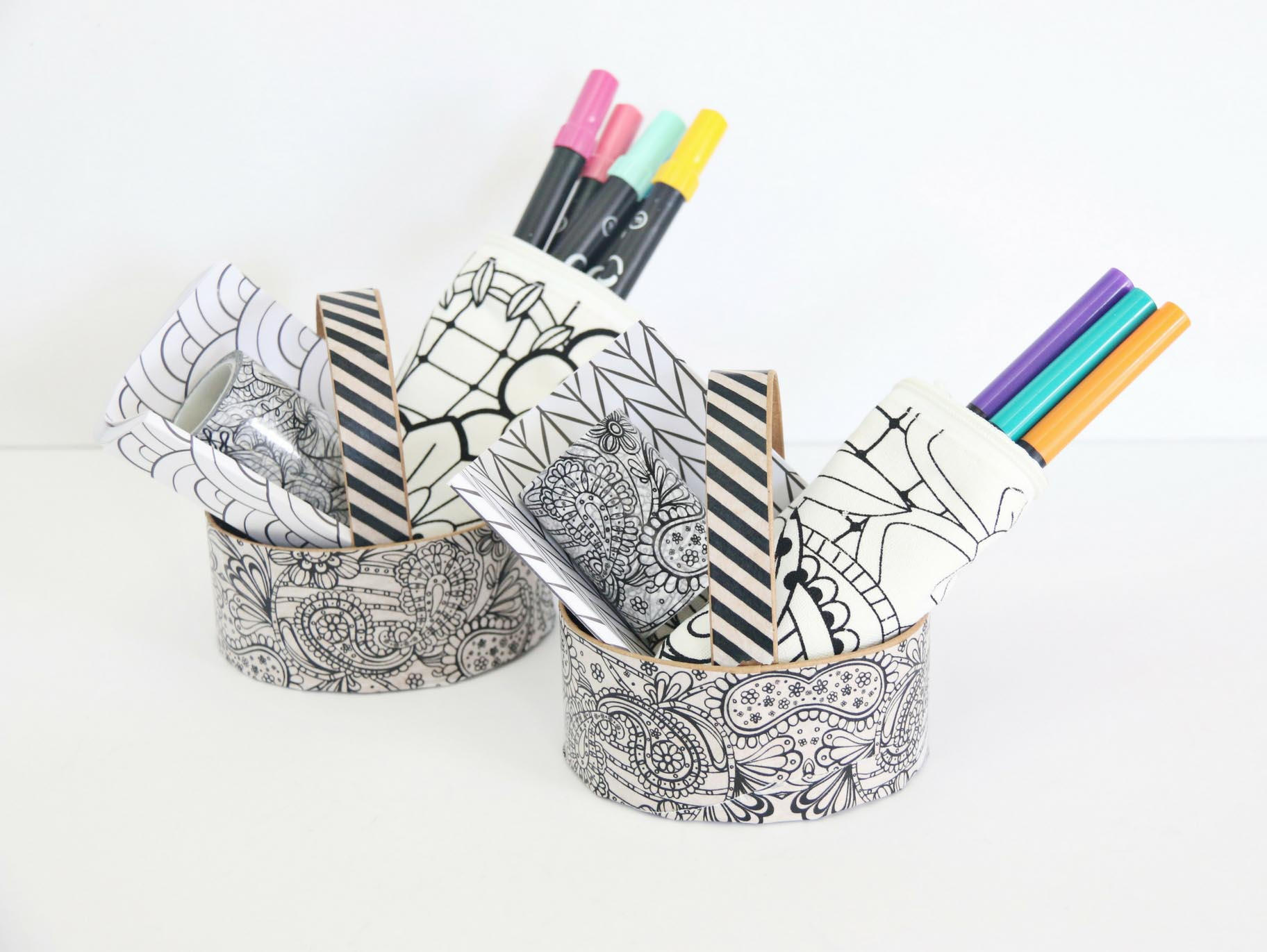 DIY Coloring Easter Basket