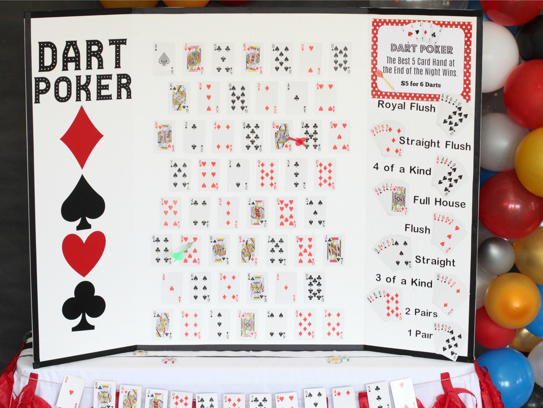 Game Of Love Sheets diy dart poker game | fun365