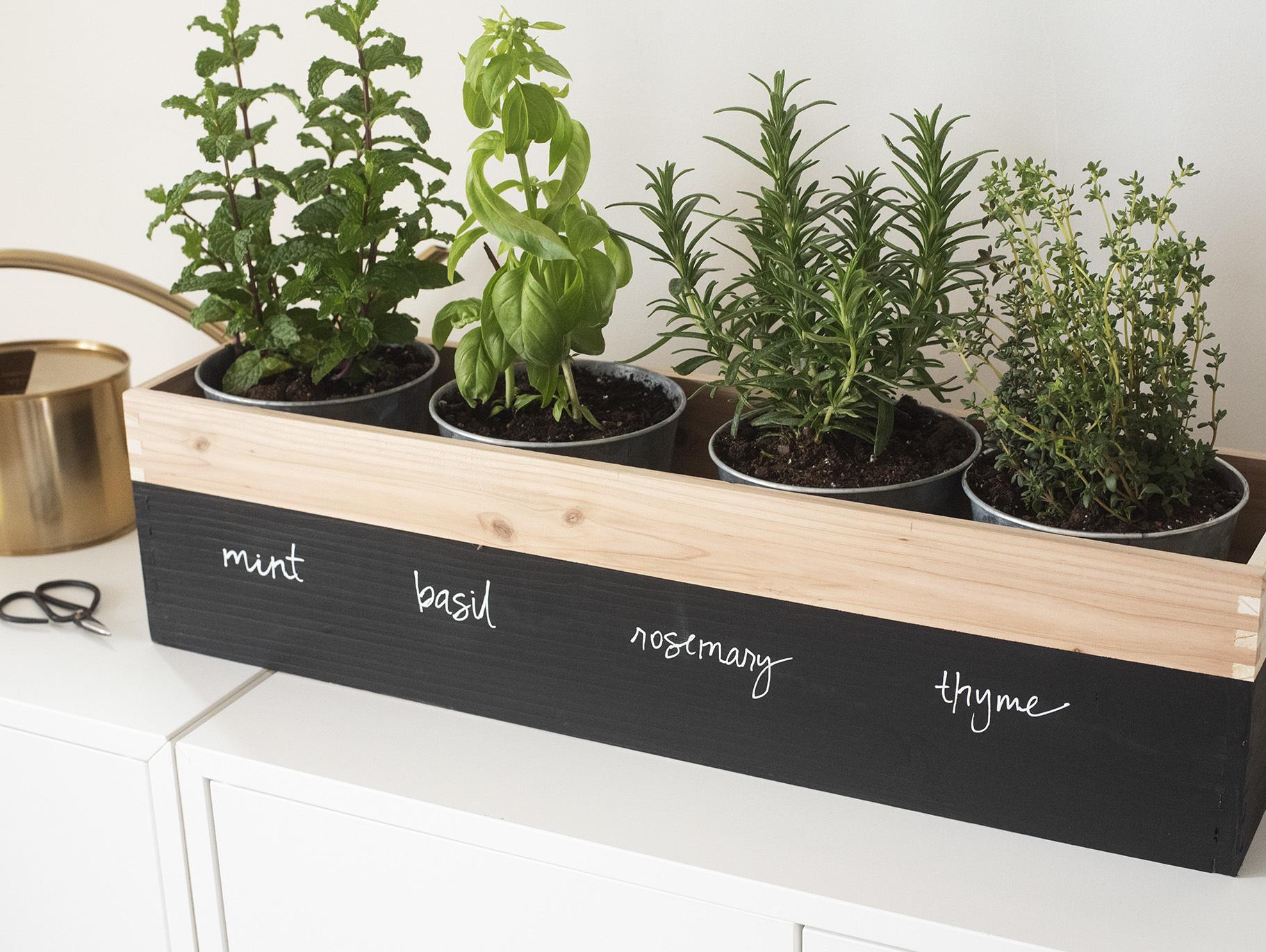 DIY Herb Garden Planter   Fun9