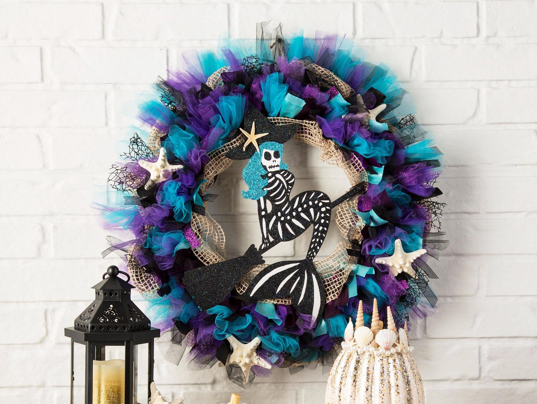 Diy Merwitch Skeleton Wreath Fun365