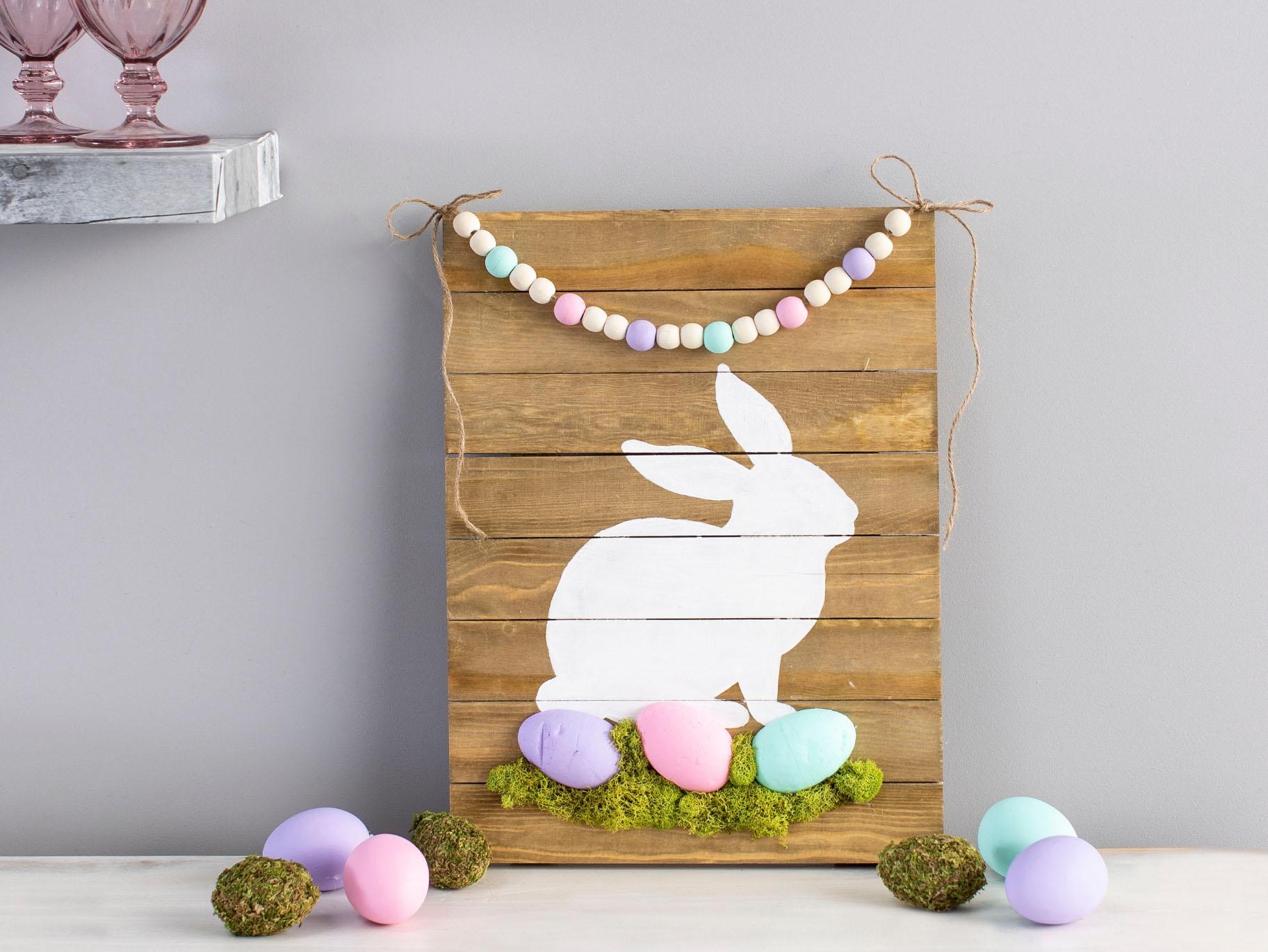 Diy Pastel Bunny Sign Fun365