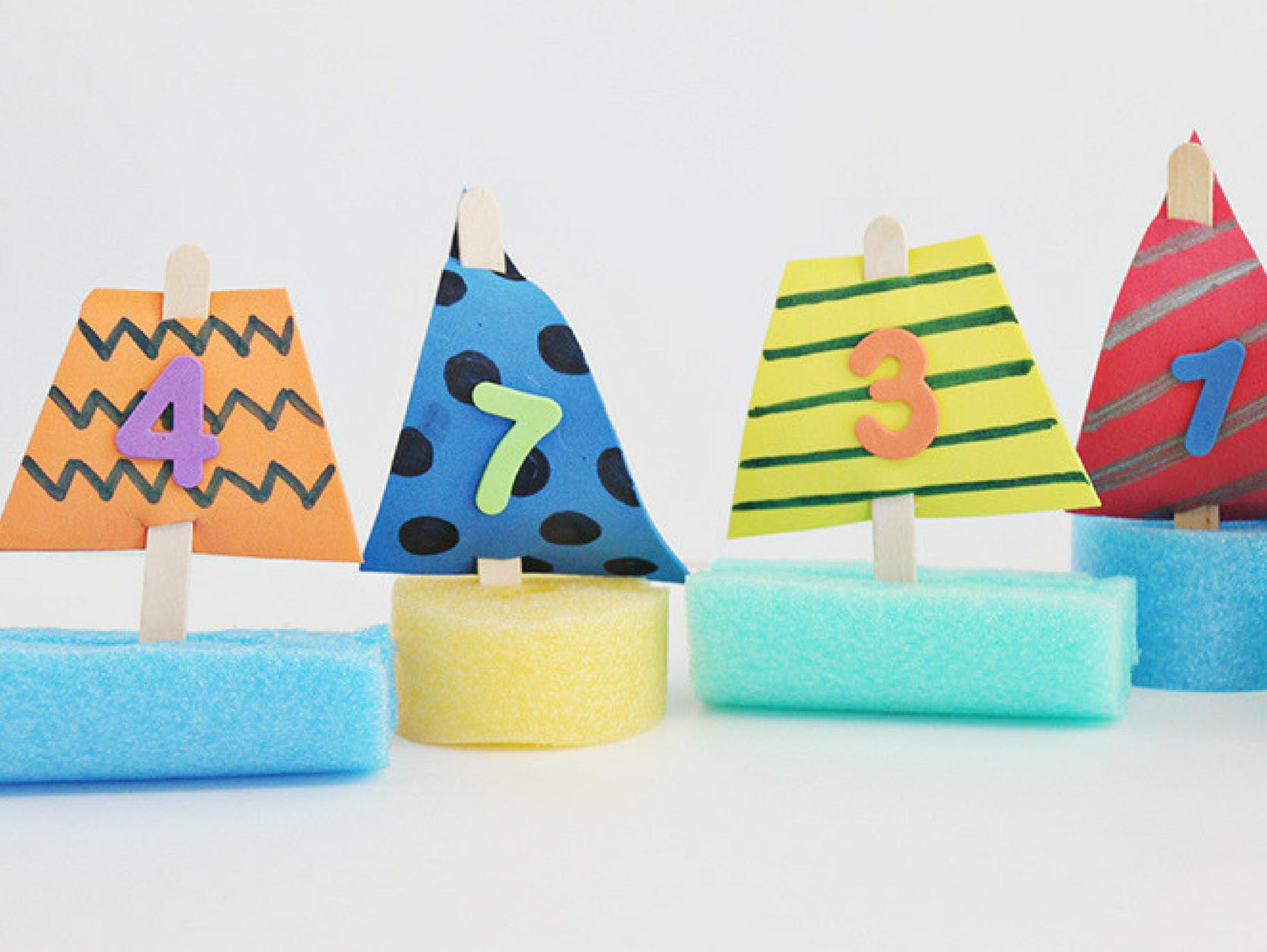 Pool Noodle Boats Kid Craft