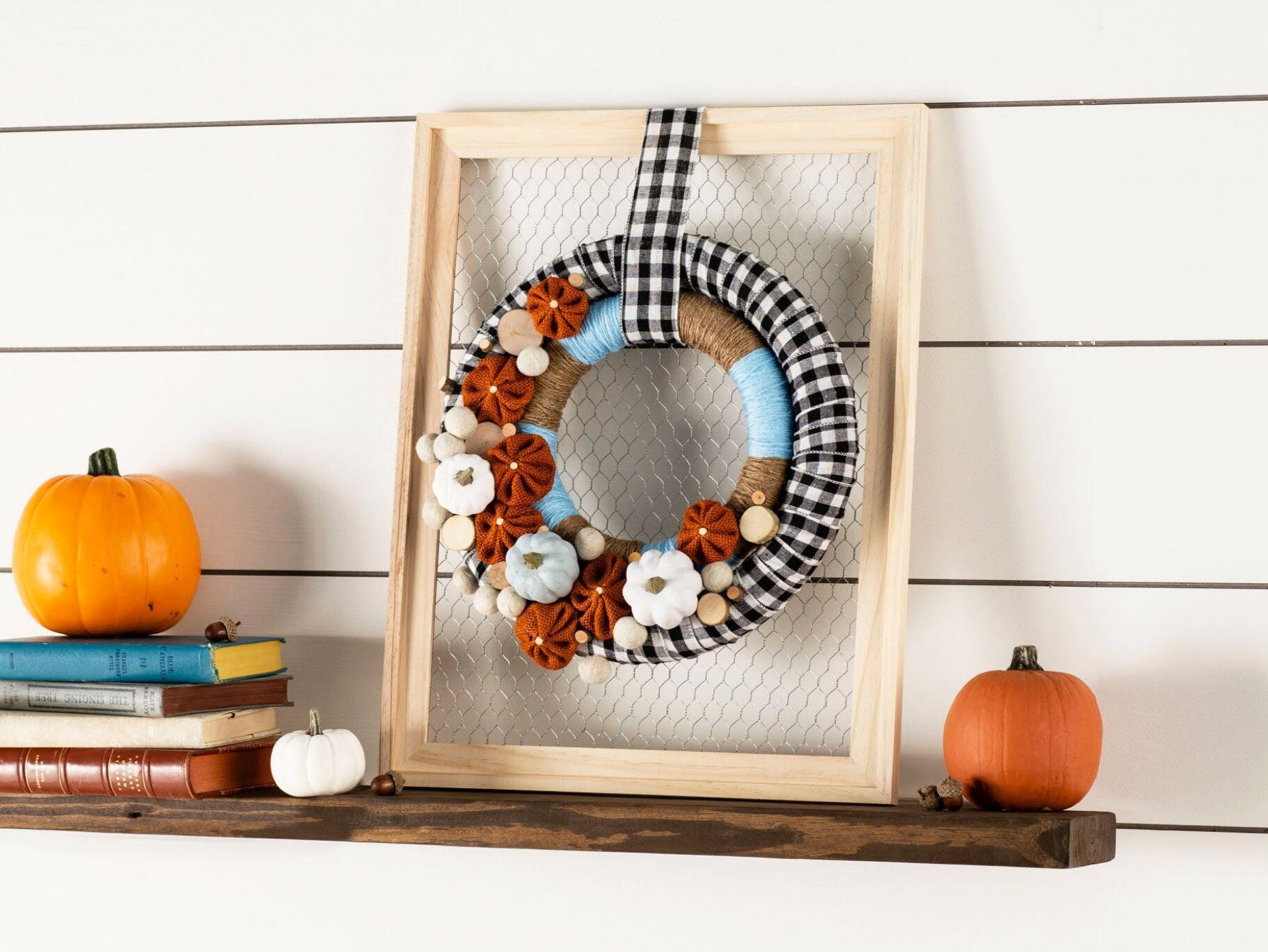 Diy Pumpkin Plaid Wreath Fun365