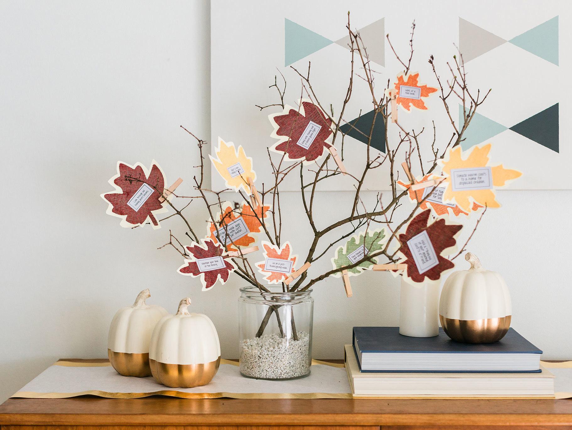 Diy Thanksgiving Tree Branch Decor Prompts Fun365