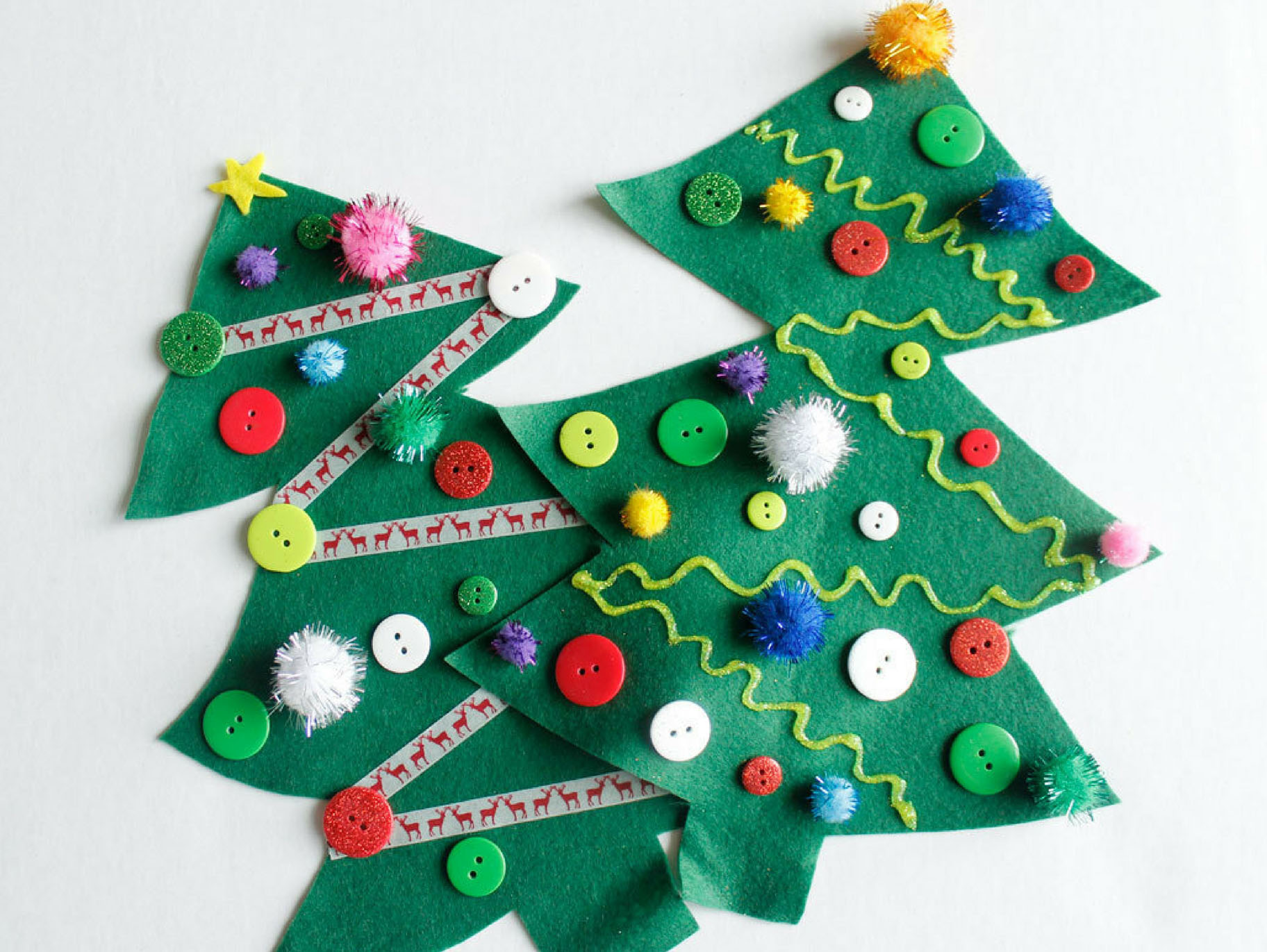 Felt Christmas Tree Kids Craft Fun365