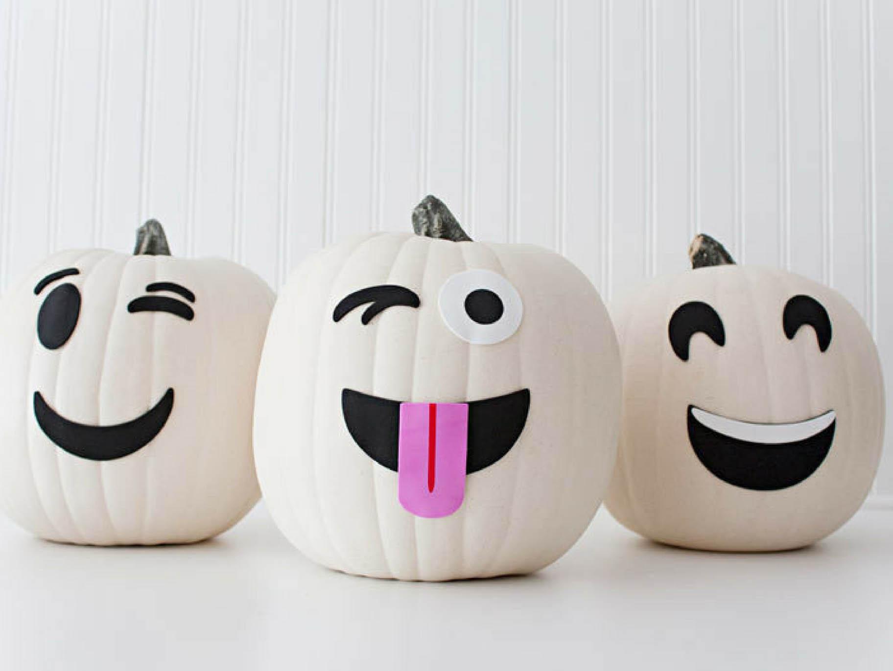 Decorate Ghost Emoji Pumpkins Fun365