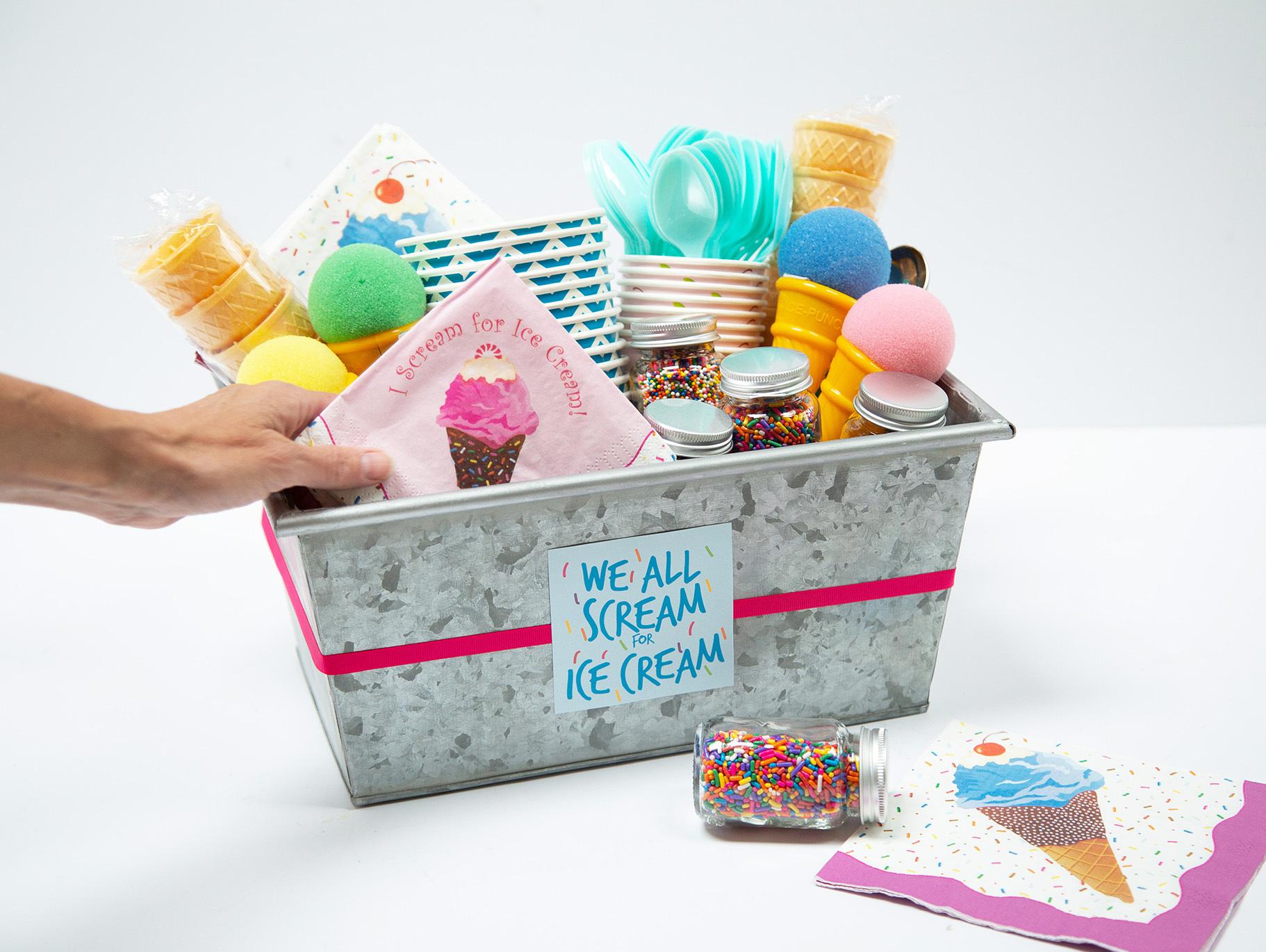 Ice Cream Party Gift Basket Idea Fun365