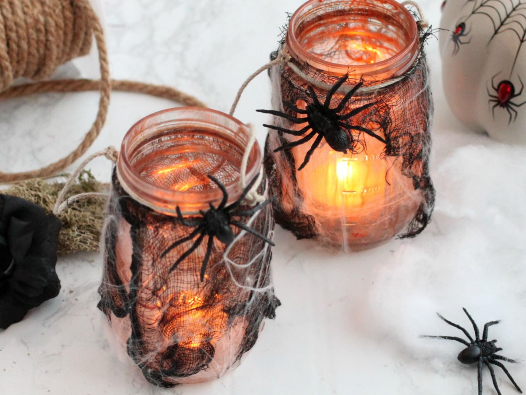 Diy Haunted Mason Jar Lanterns Fun365