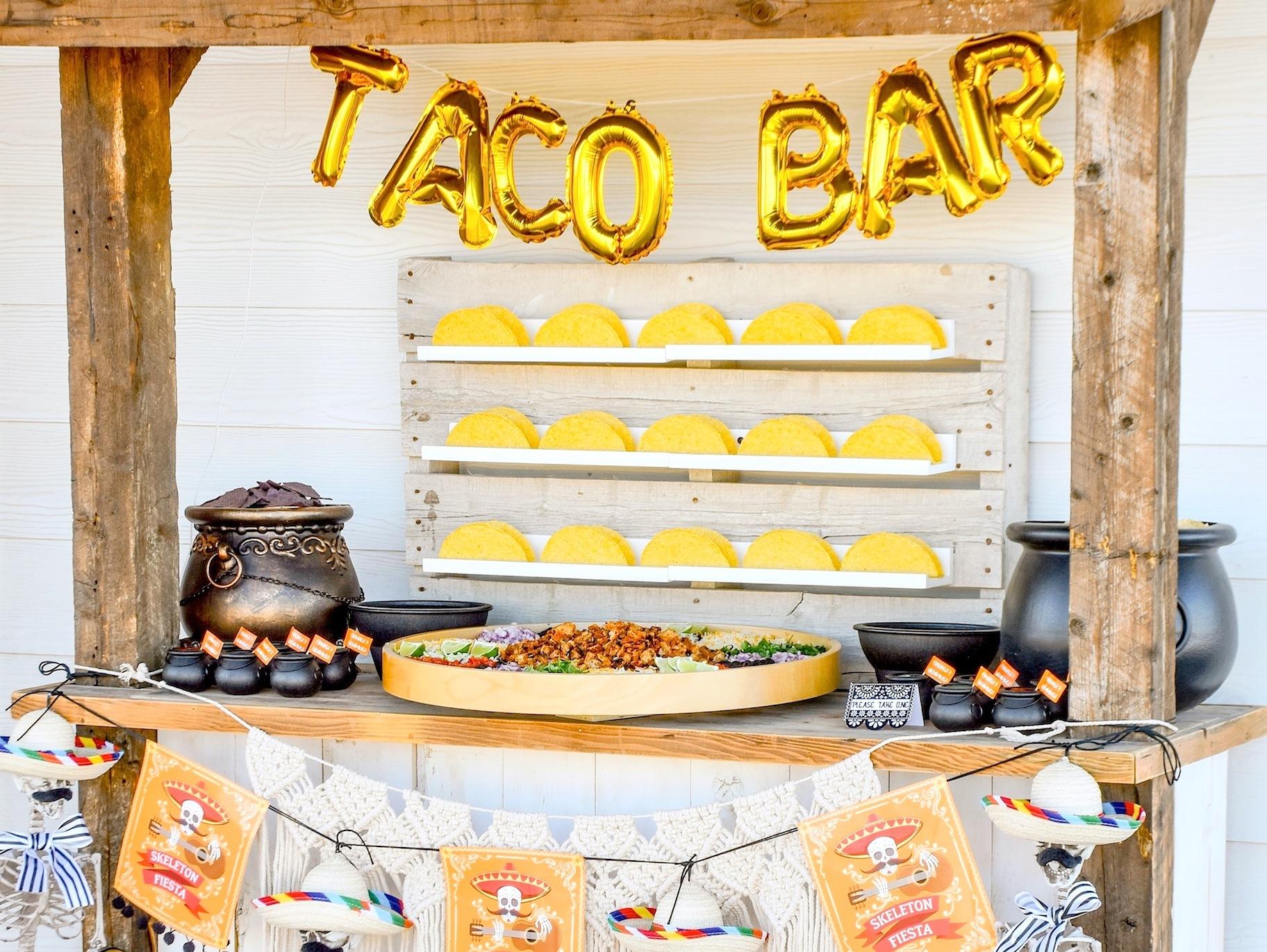 Diy Skeleton Fiesta Taco Bar Fun365