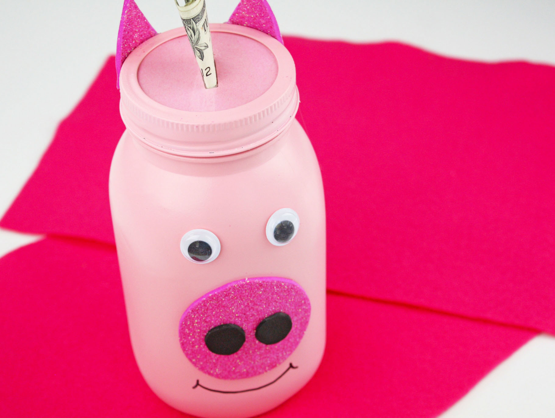 Mason Jar Piggy Bank Craft Fun365