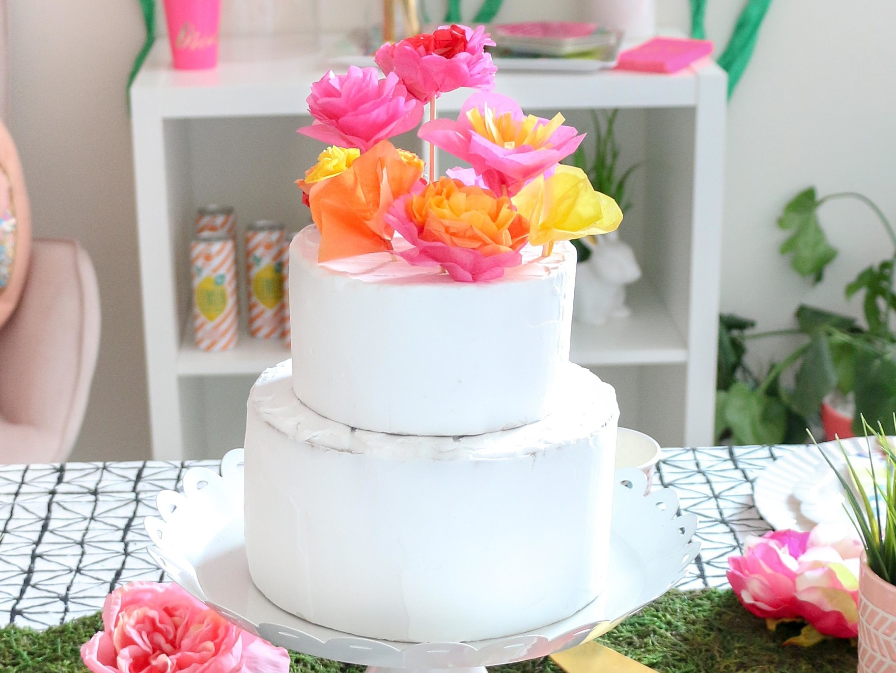 Diy Flower Cake Toppers Fun365