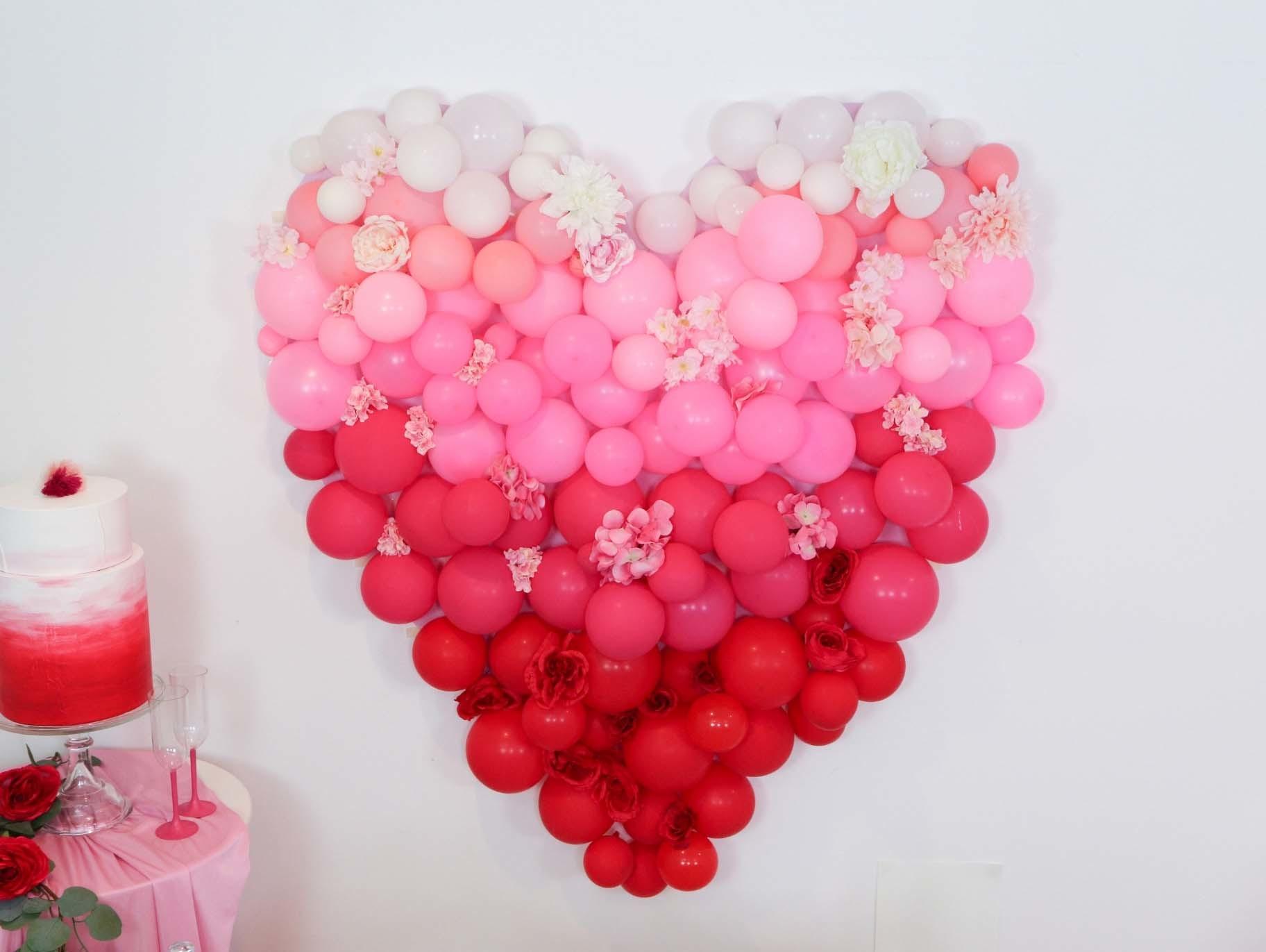 How To Make An Ombre Balloon Heart Backdrop Fun365