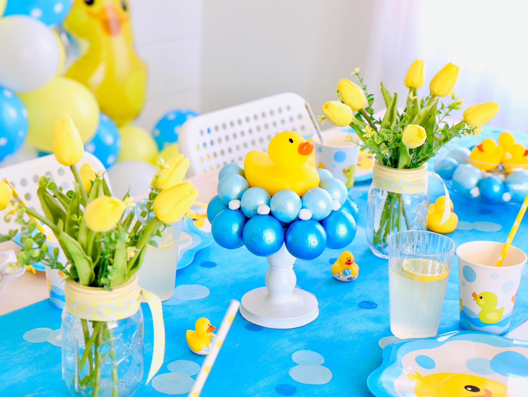 Rubber Duck Baby Shower Centerpiece  Fun12