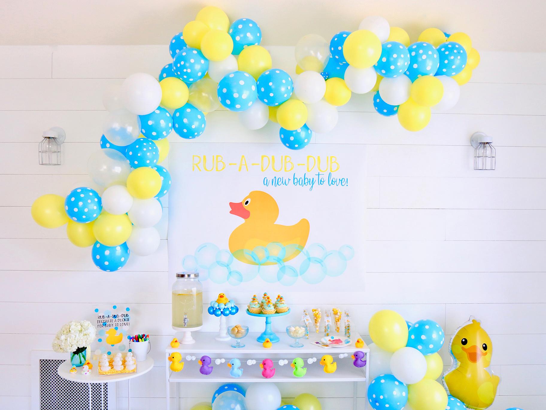 Rubber Duck Baby Shower Backdrop  Fun12