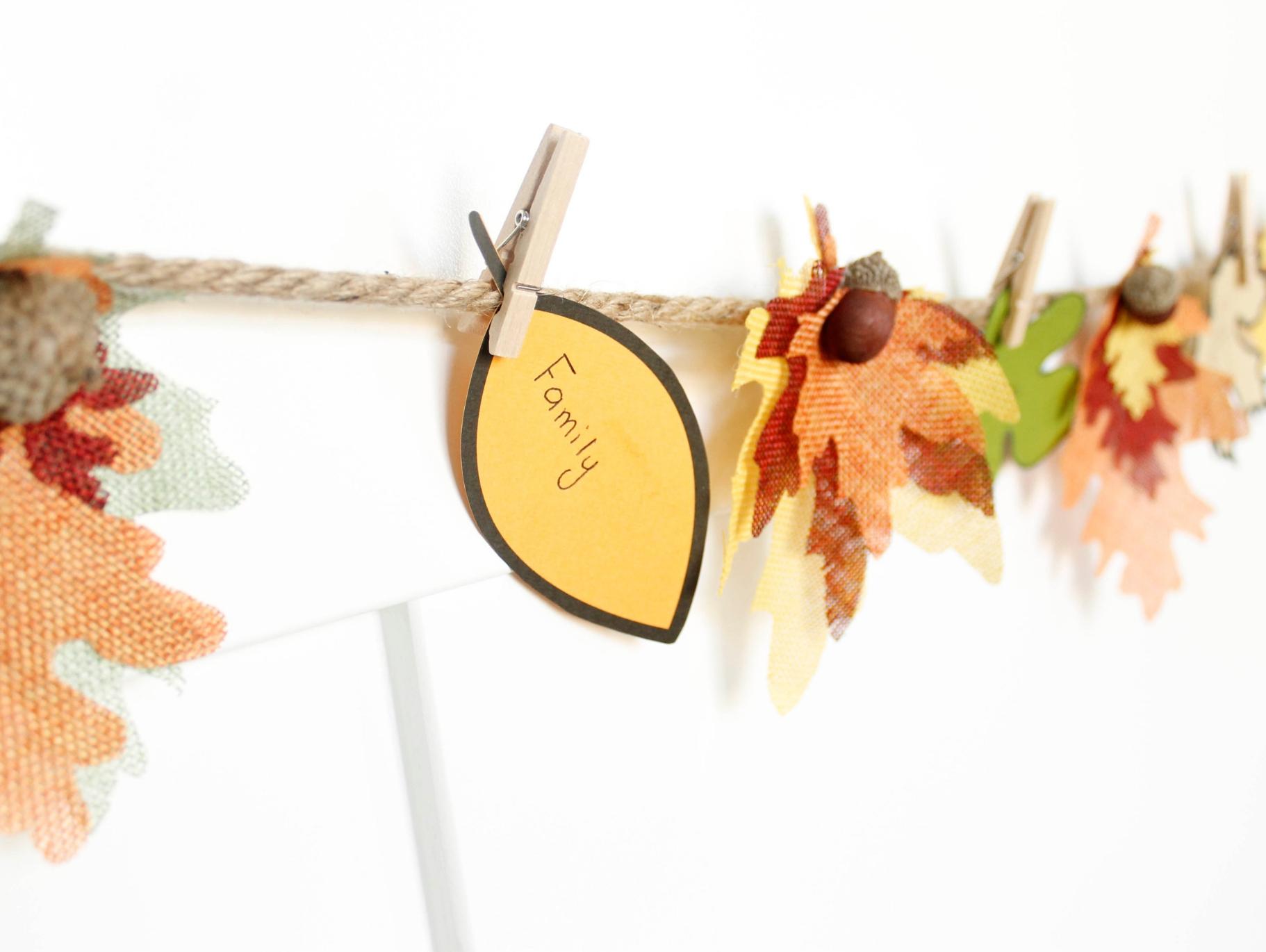 Diy Thankful Fall Leaf Garland Fun365