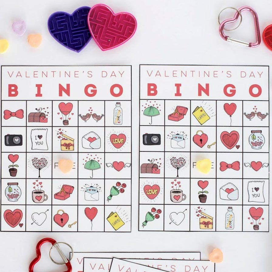 This is a graphic of Printable Valentine Bingo Cards within 25 printable