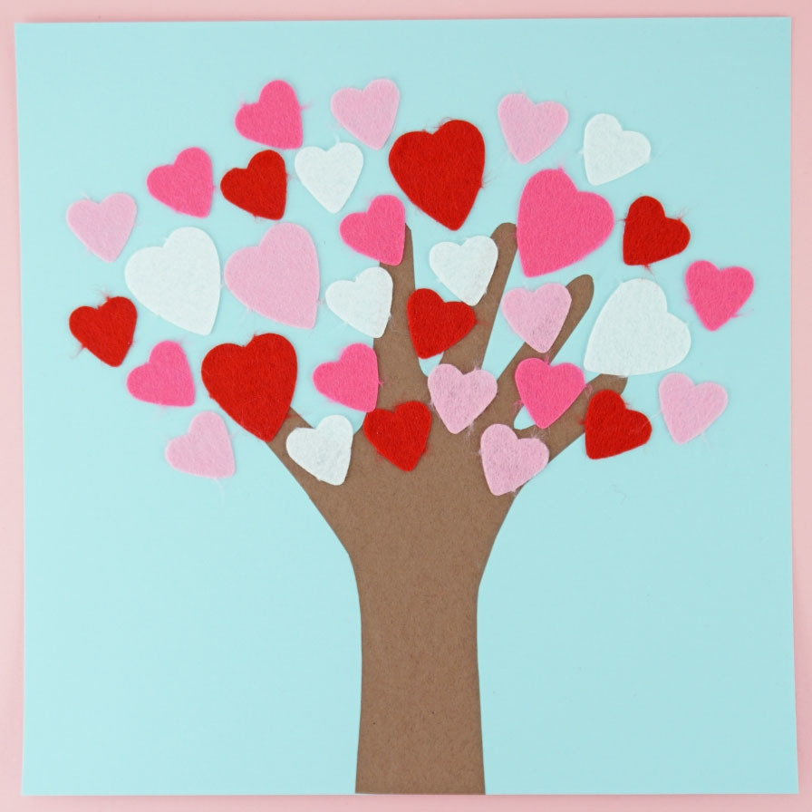 4-Pack Love Tree Valentines Day Greeting Card