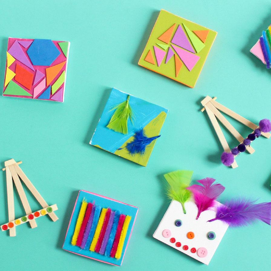 Mini Craft Supply Canvas Art For Kids Fun365