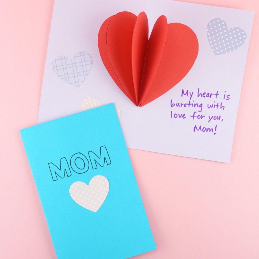 Diy Pop Up Heart Mother S Day Card Fun365