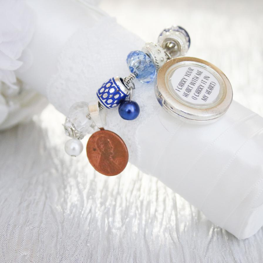 Something Old New Borrowed And Blue Bracelet Or Bouquet Charm Fun365