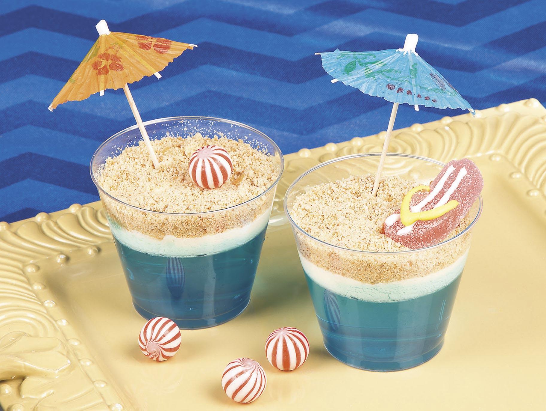 Beach Scene Dirt Cups Recipe Fun365