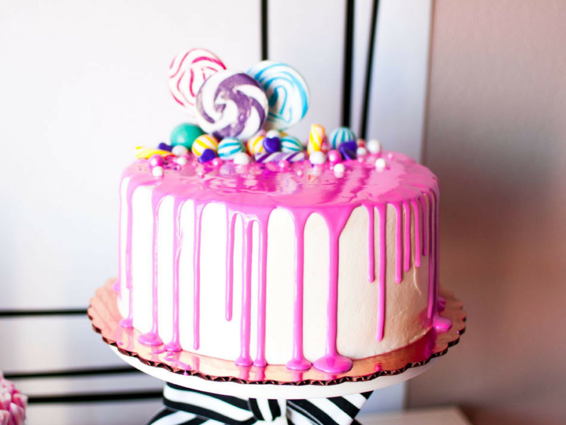 Stupendous Candy Embellished Store Bought Drip Cake Fun365 Funny Birthday Cards Online Bapapcheapnameinfo