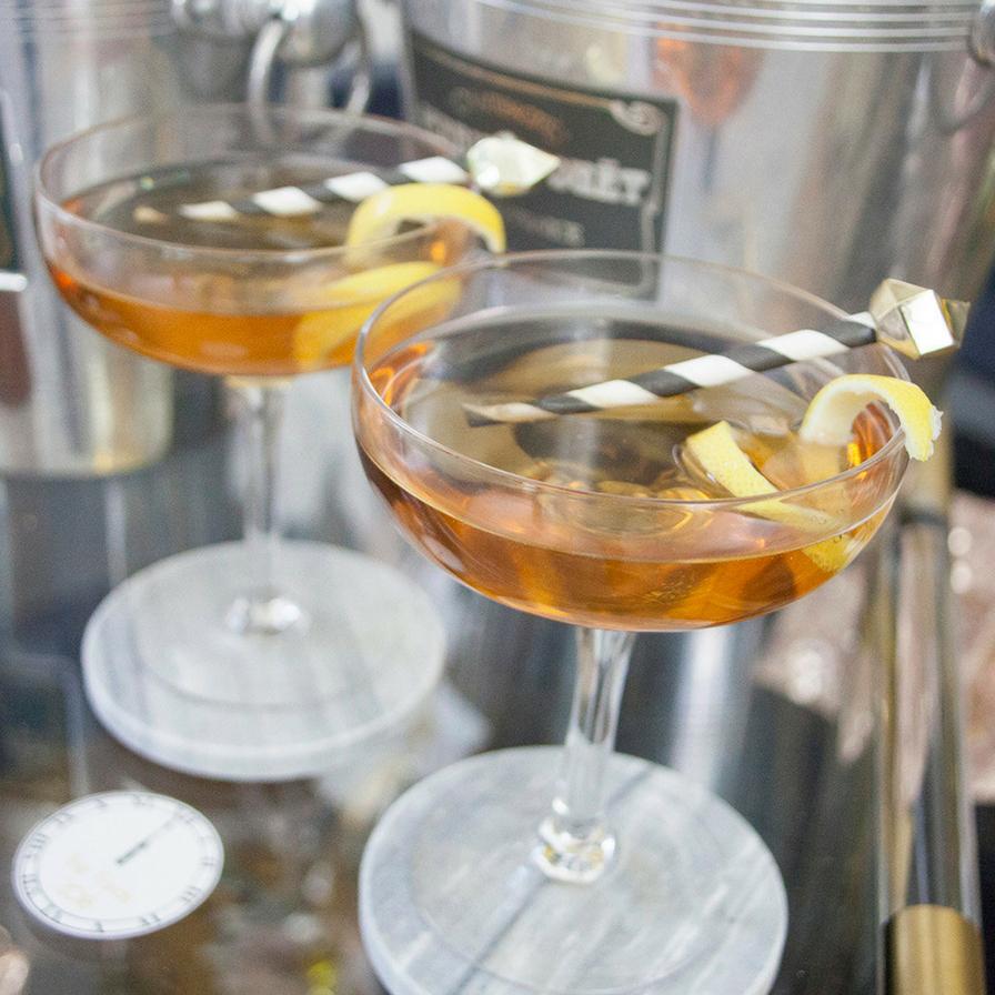 10 Pieces St Germain Metal Cocktail Stirrers Cocktail Stirrers for Cocktail Long Drinks