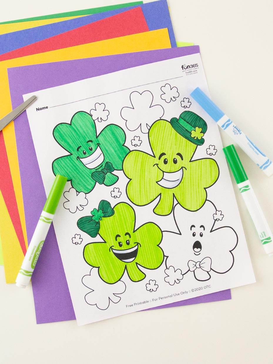 60 Easy St. Patrick's Day Shamrock Crafts for Toddlers and Kids ... | 1239x929