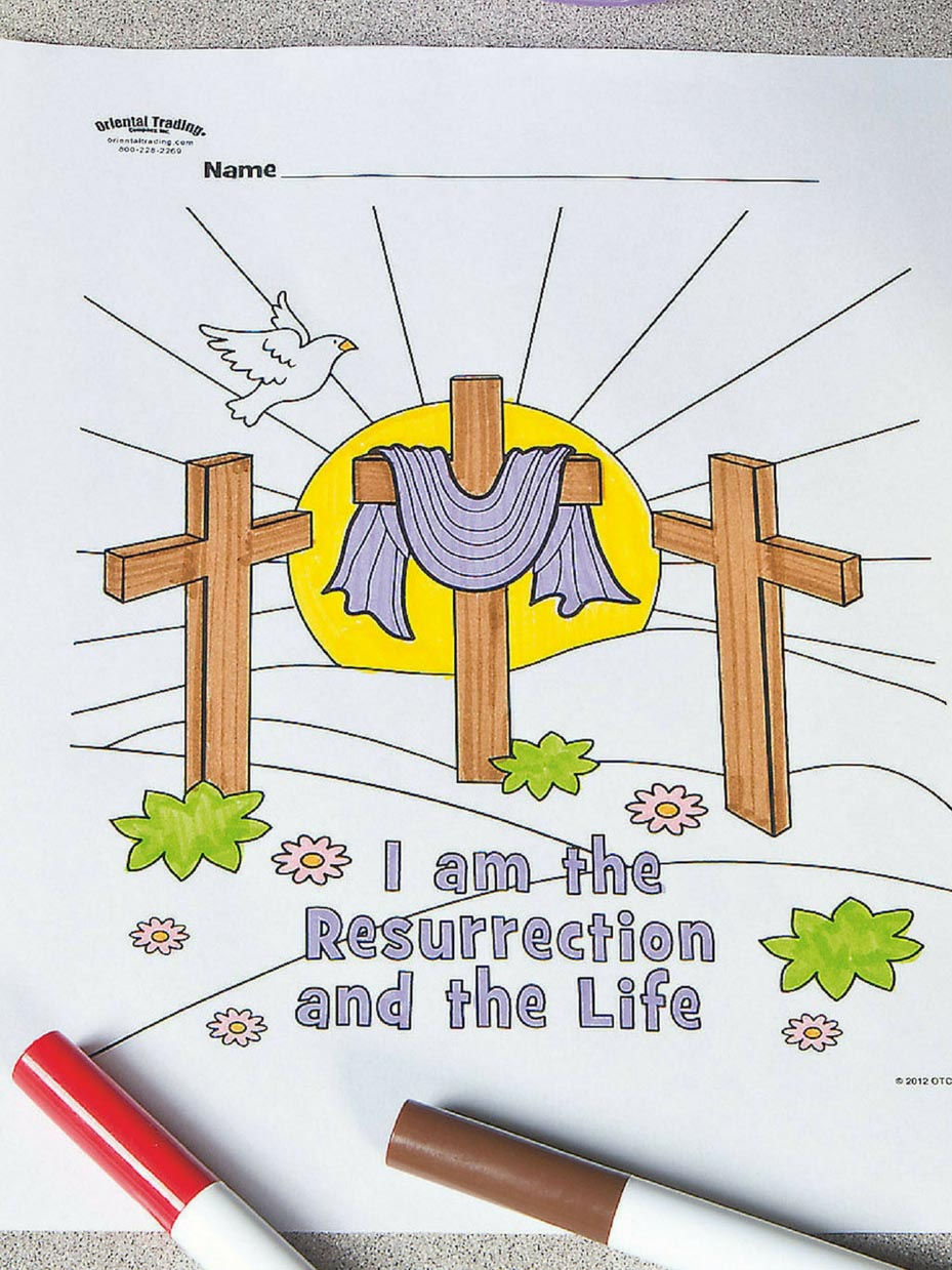 Free Easter Sunday School Coloring Pages Fun365